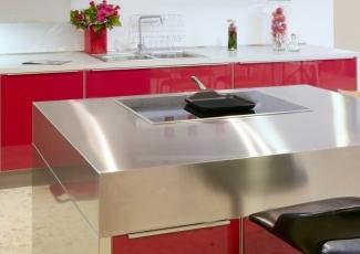 stainless kitchen island